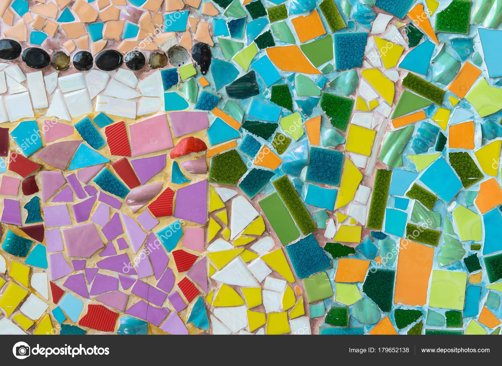 Mosaic Tiles Of Colorful Abstract For Background Stock