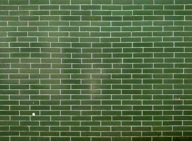 Gross green ceramic Tiles Brick wall texture architect interior material web backdrop background