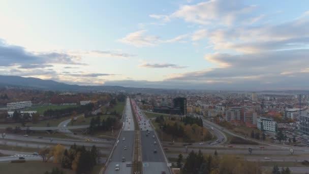 Panoramic view of Boyana bypass road in Sofia, Bulgaria