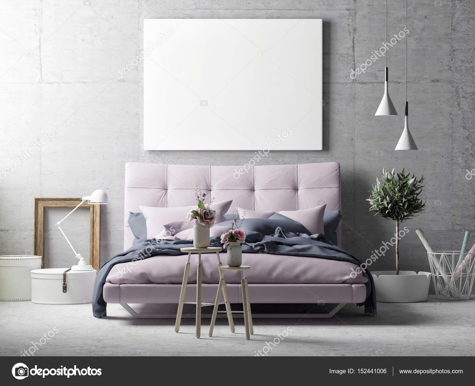 Plakat Auf Hipster Wohnzimmer Hintergrund Hautnah U2014 Stockfoto