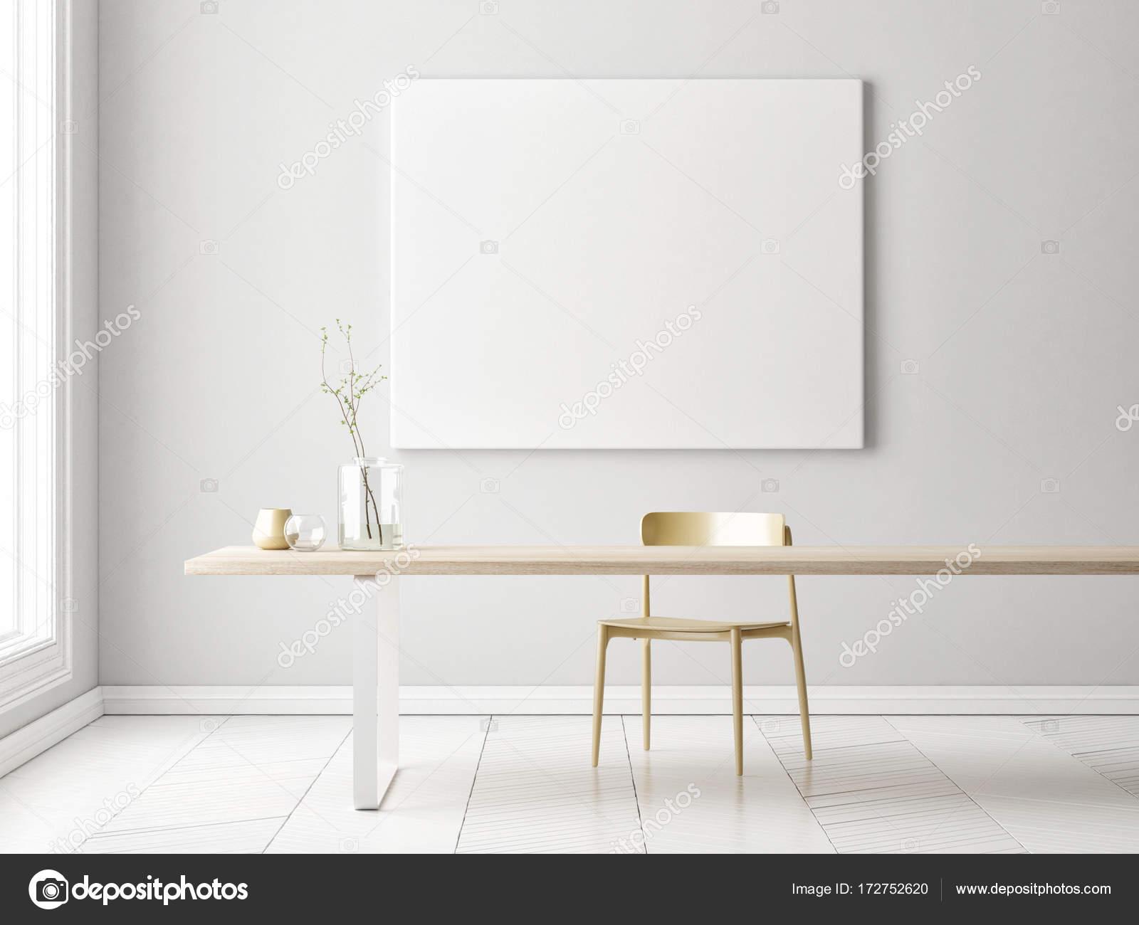 Interieur minimalistisch concept design met mock up poster
