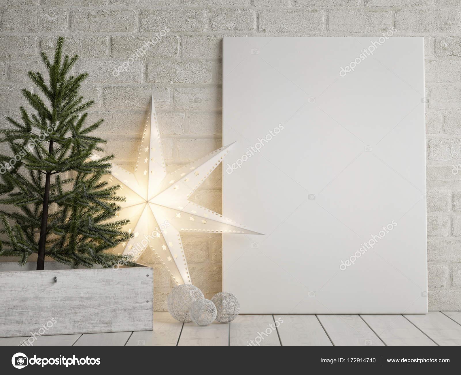 Stella Di Natale Luce.Manichino Di Poster Albero Di Natale E Decorazione Della Stella Di