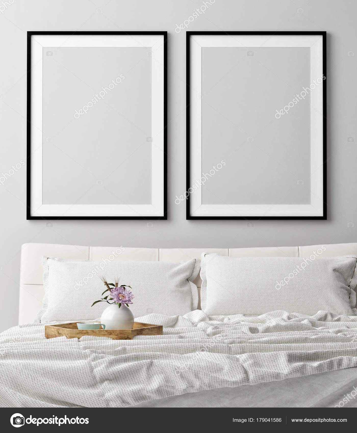 Sognare Camere Da Letto.Mock Poster Camera Letto Romantica Sogno Illustrazione Rendering