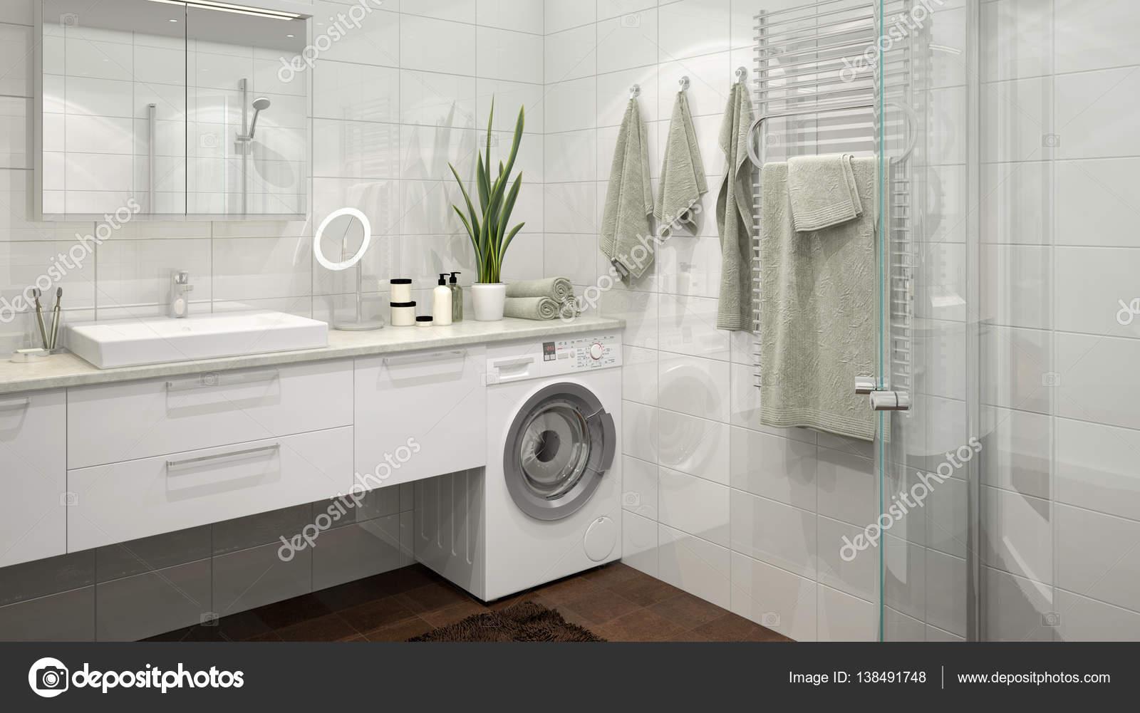 Moderne Scandinavische badkamer — Stockfoto © imagewell #138491748