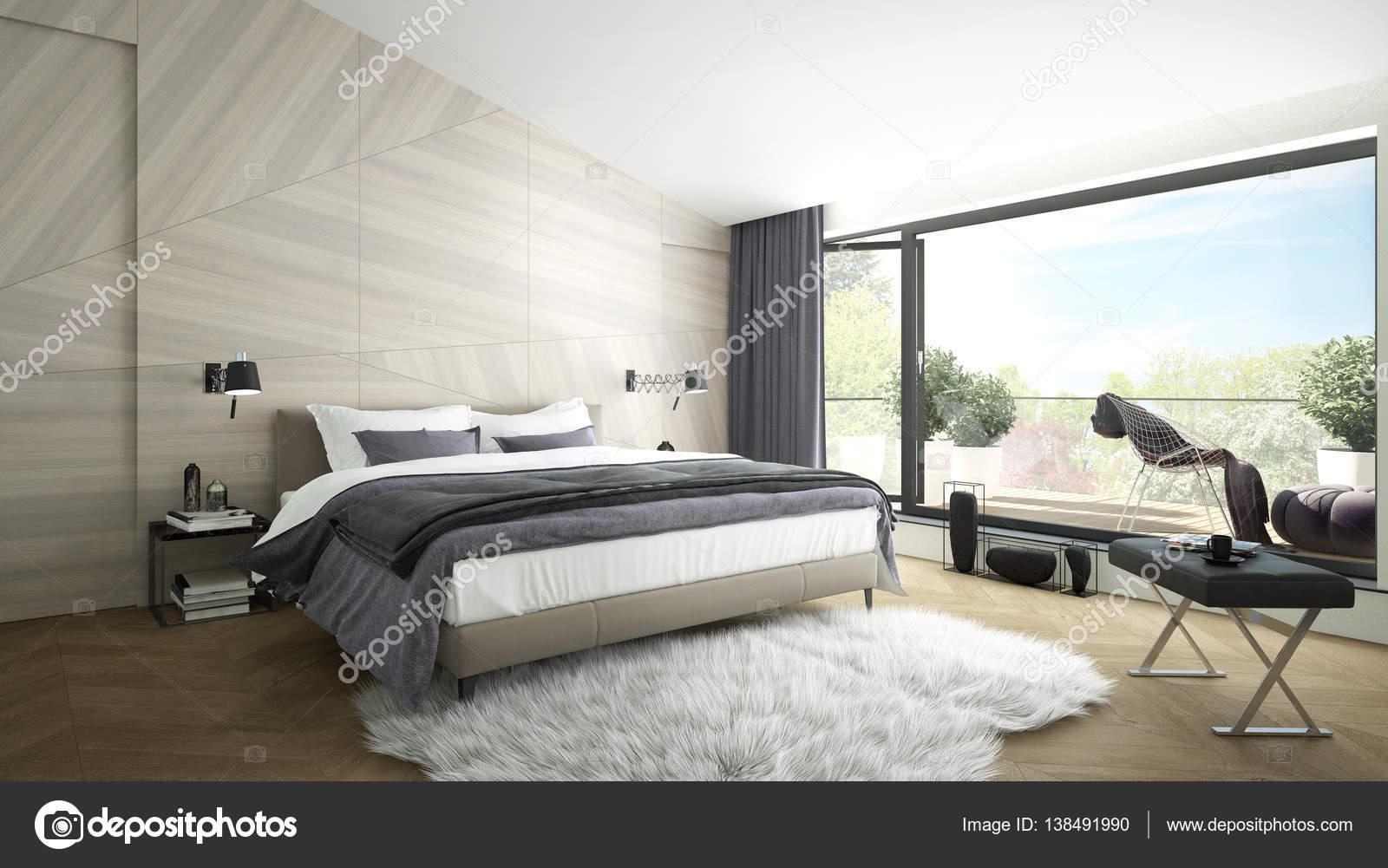 Luxe moderne slaapkamer — Stockfoto © imagewell #138491990