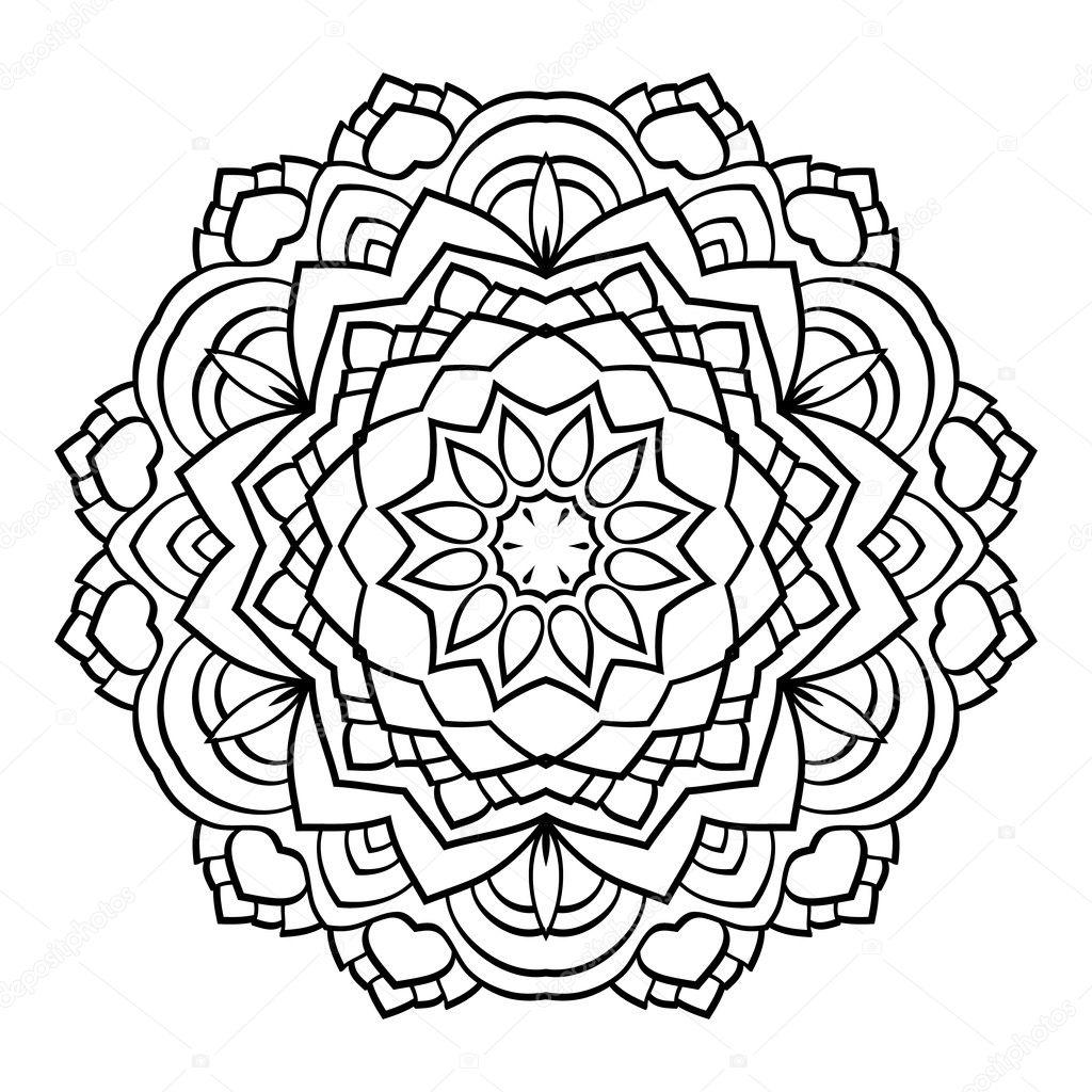 Imágenes Mandalas En Blanco Y Negro Para Colorear Mandala