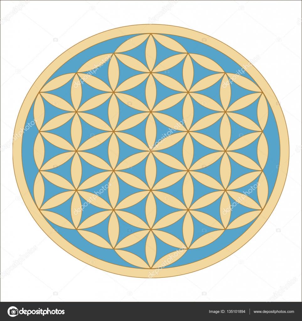 Gold Flower Symbol