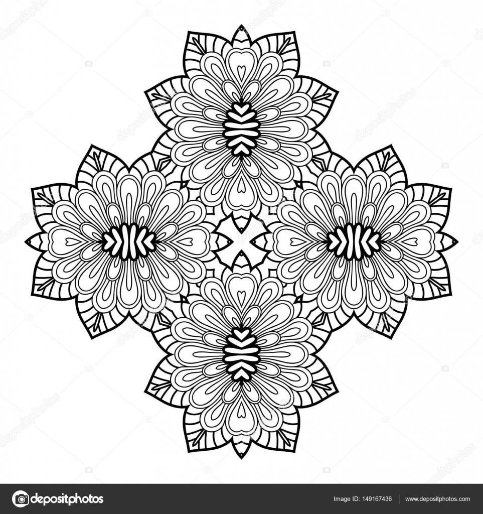 Imágenes En Forma De Rombo Para Colorear Mandala Elemento