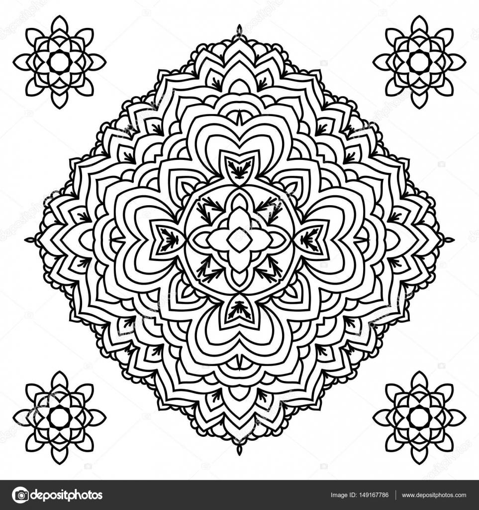 Bordes Religiosos Para Colorear Mandala Elemento Decorativo En