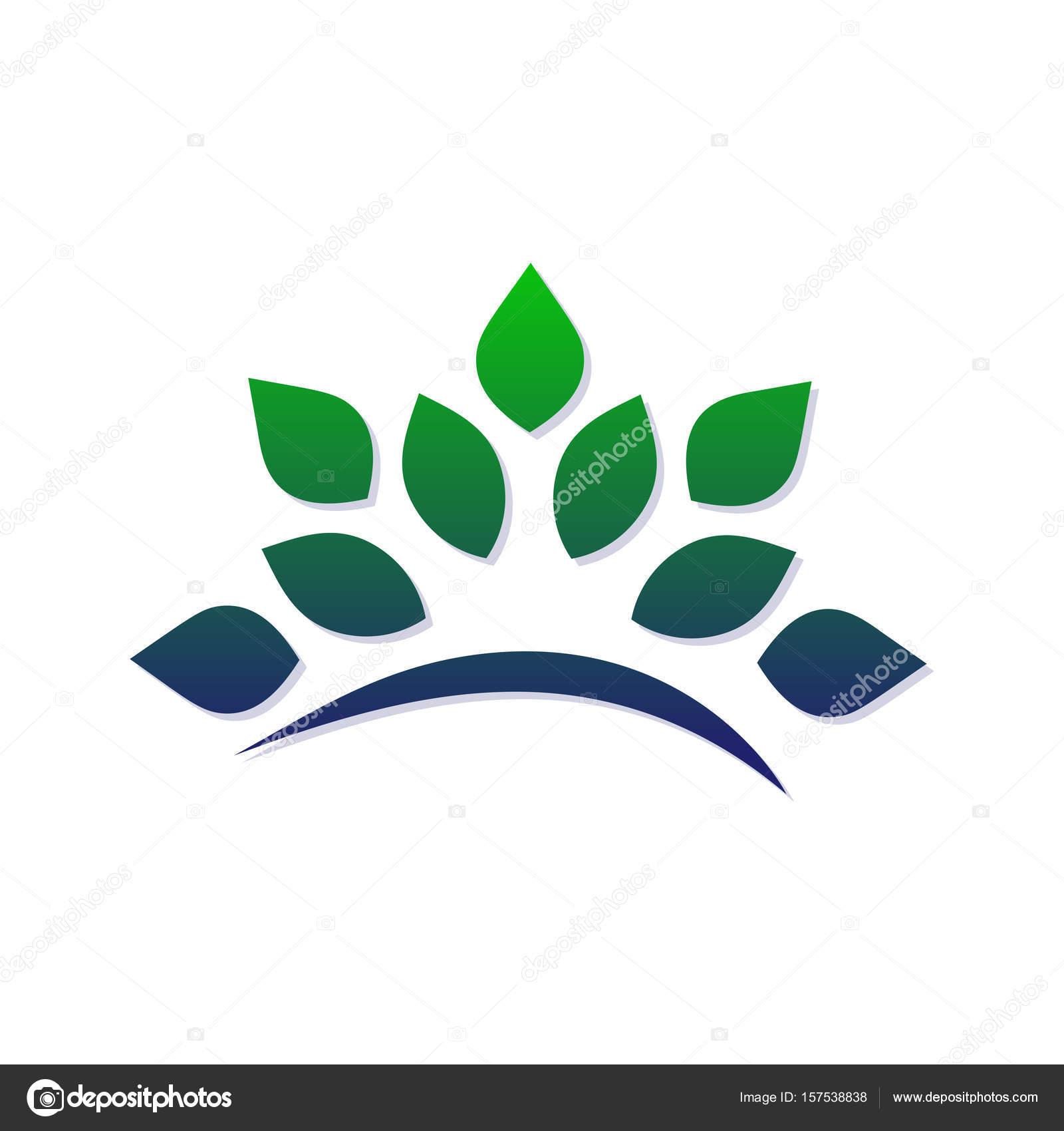 Vorlage zum Erstellen eines Logos in Form von stilisierten Zweig mit ...