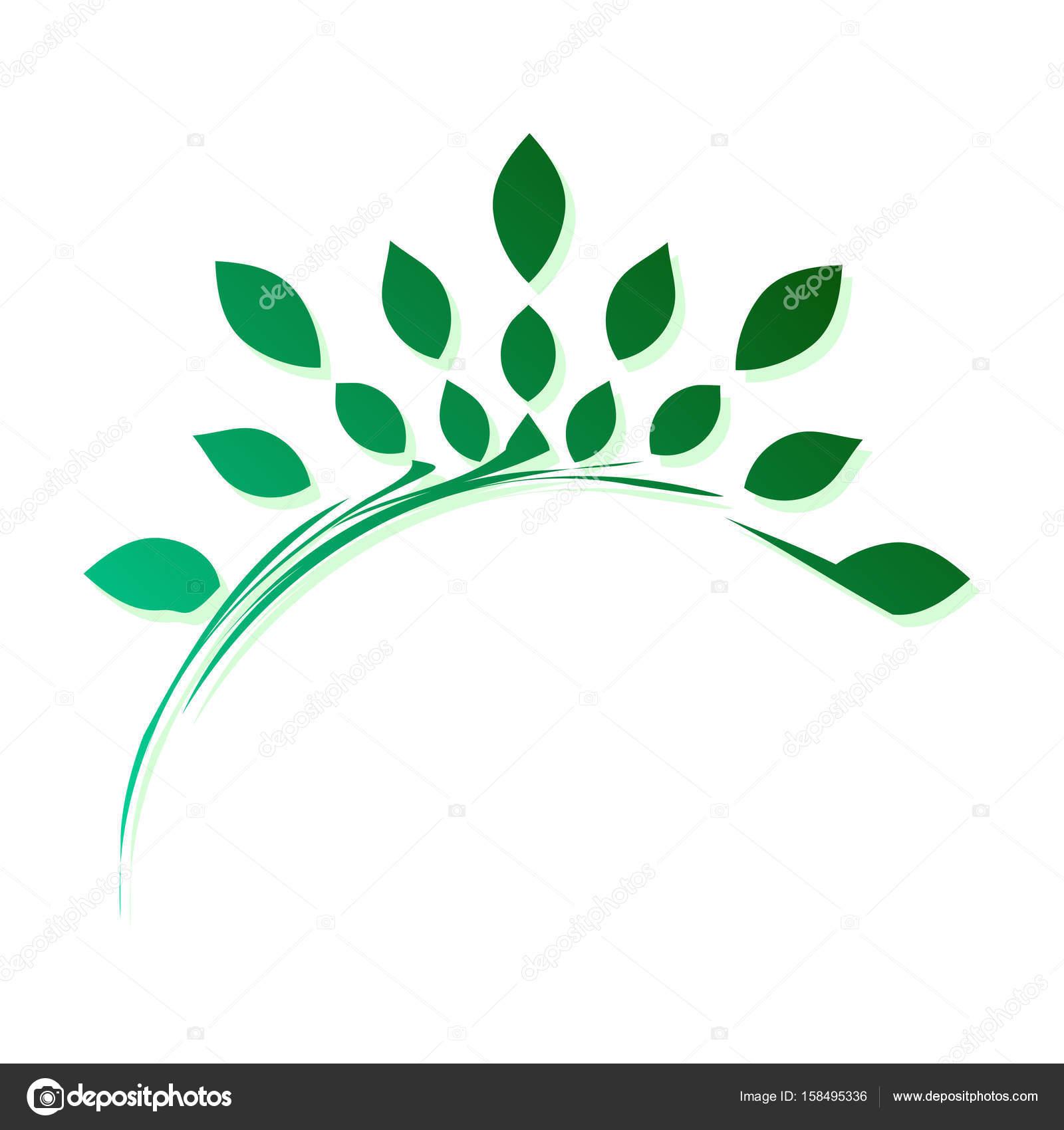 Vorlage Zum Erstellen Eines Logos Form Von Stilisierten Zweig Mit ...