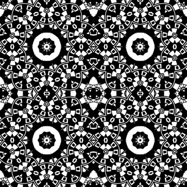Abstract seamless black and white pattern from flowing lines. Dynamic background maze. Graphic pattern for the ceiling, floor and walls.