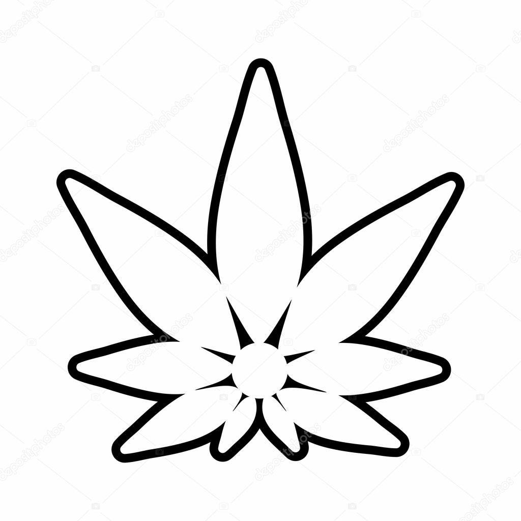 Cannabis silhouette logo. Hemp icons.