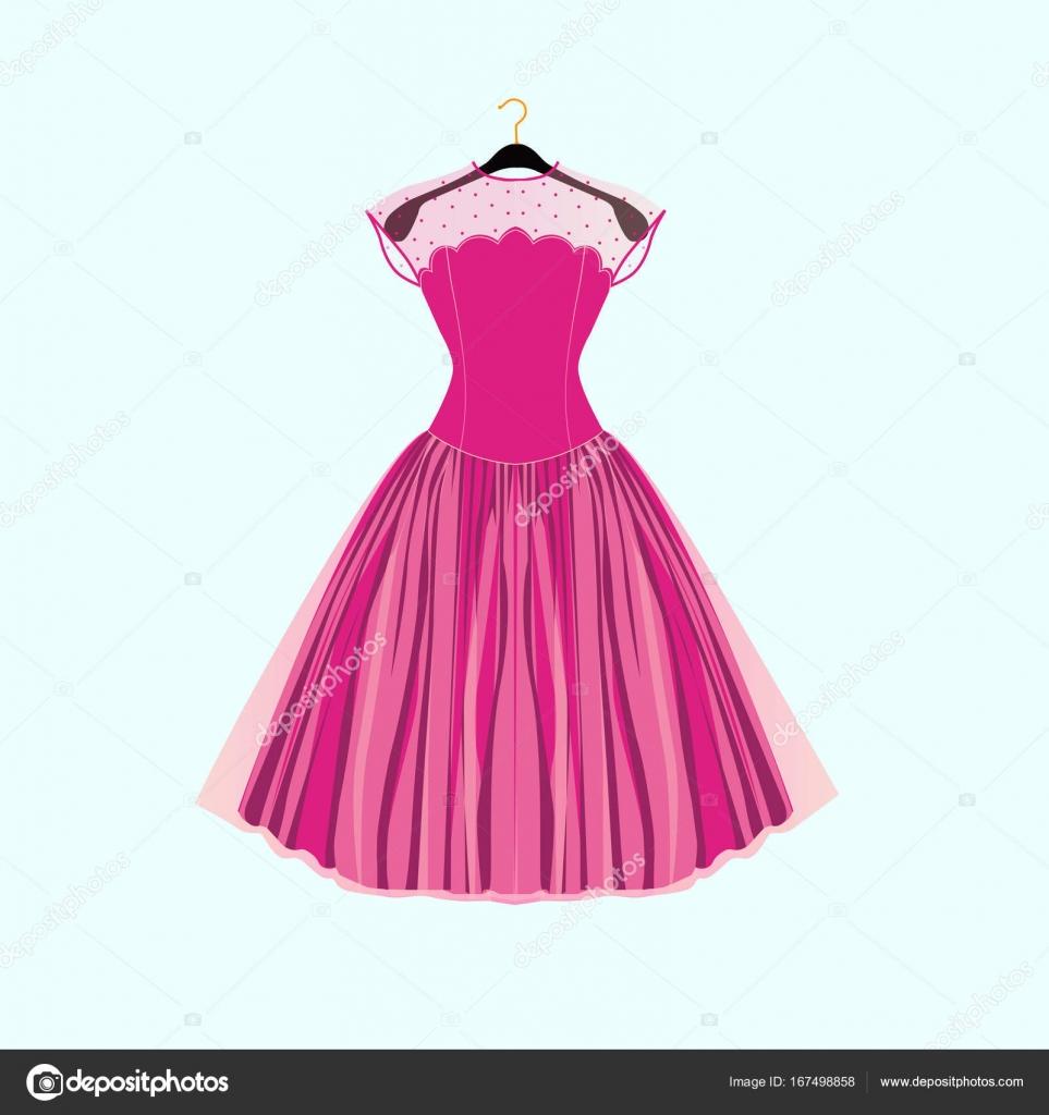 Vestido de fiesta elegante ilustración de vectores para tarjeta de ...