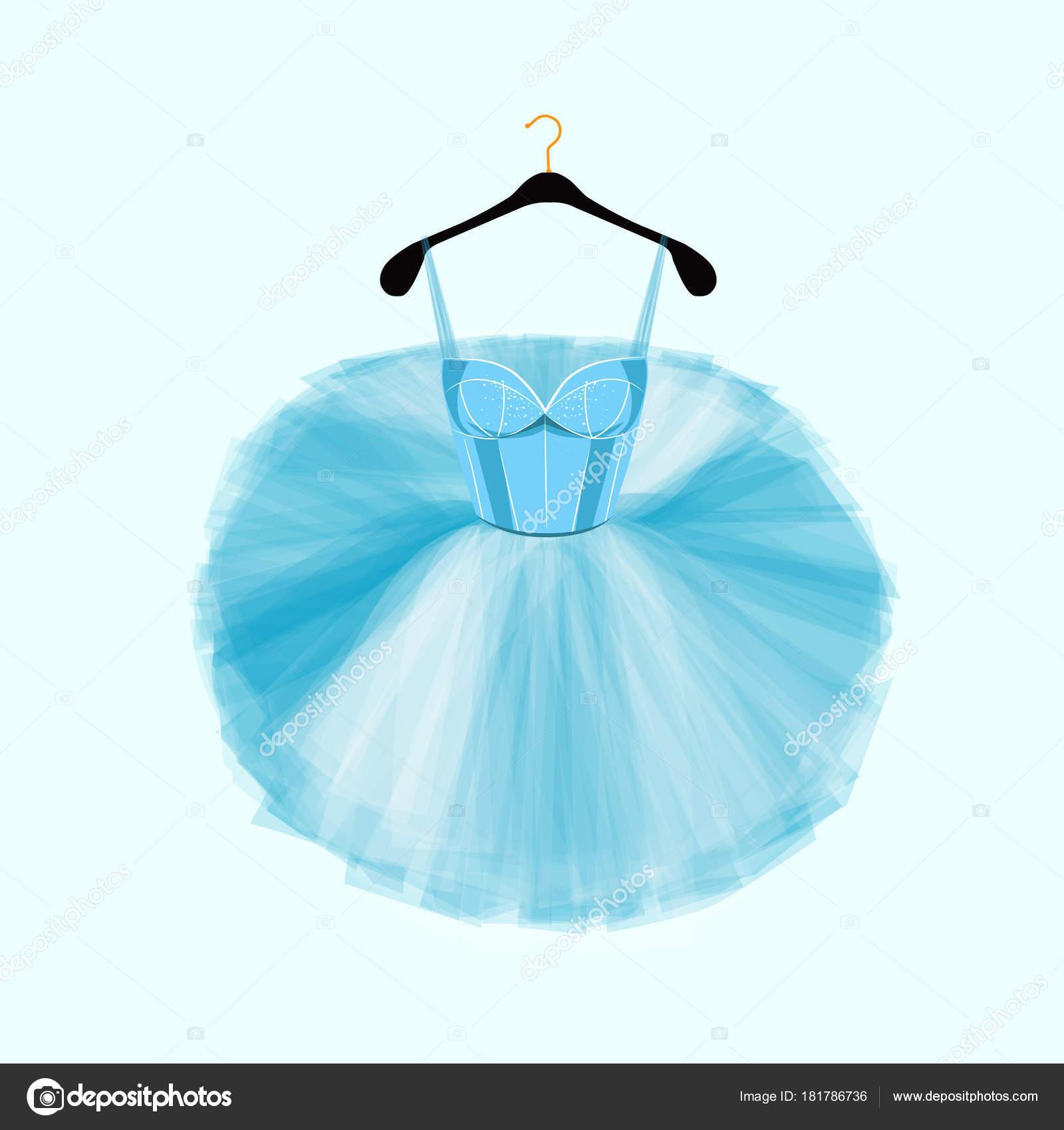 Blue Vector Dress Ballet Dencer Ballet Tutu Dress Fashion ...