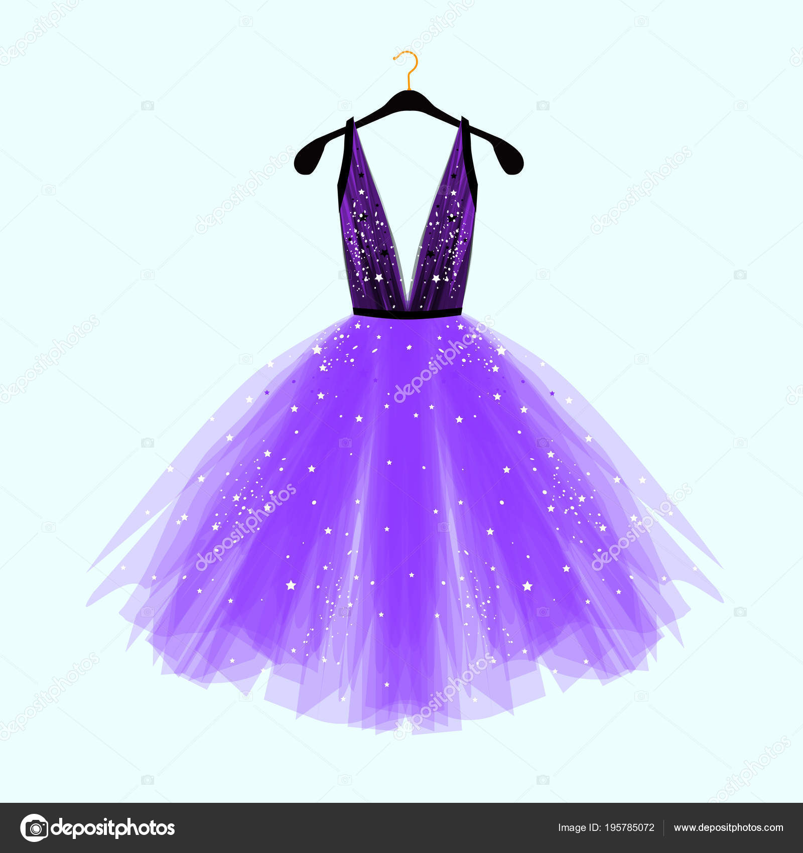 Black Ultra Violet Fancy Dress Special Event Decor Vector Fashion ...