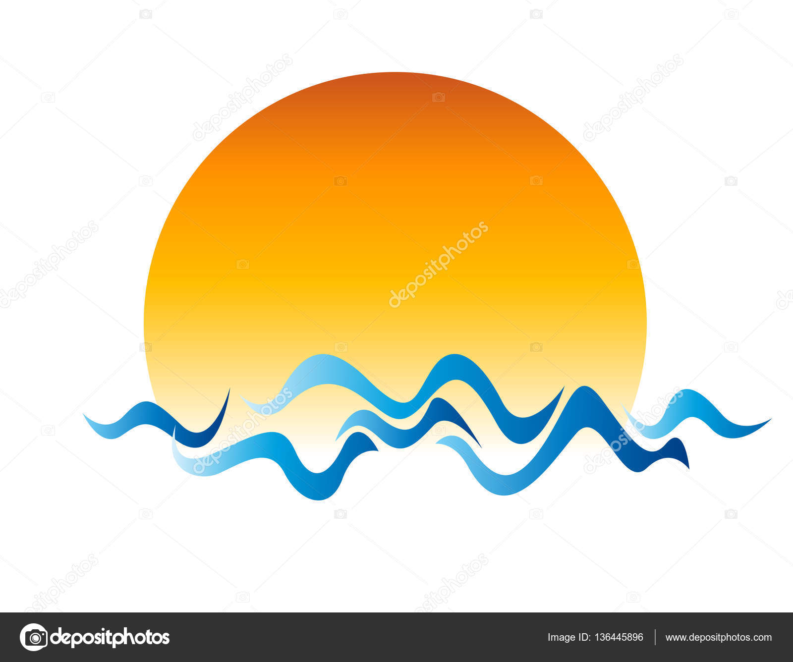 dibujo de sol y agua archivo imágenes vectoriales igordudas