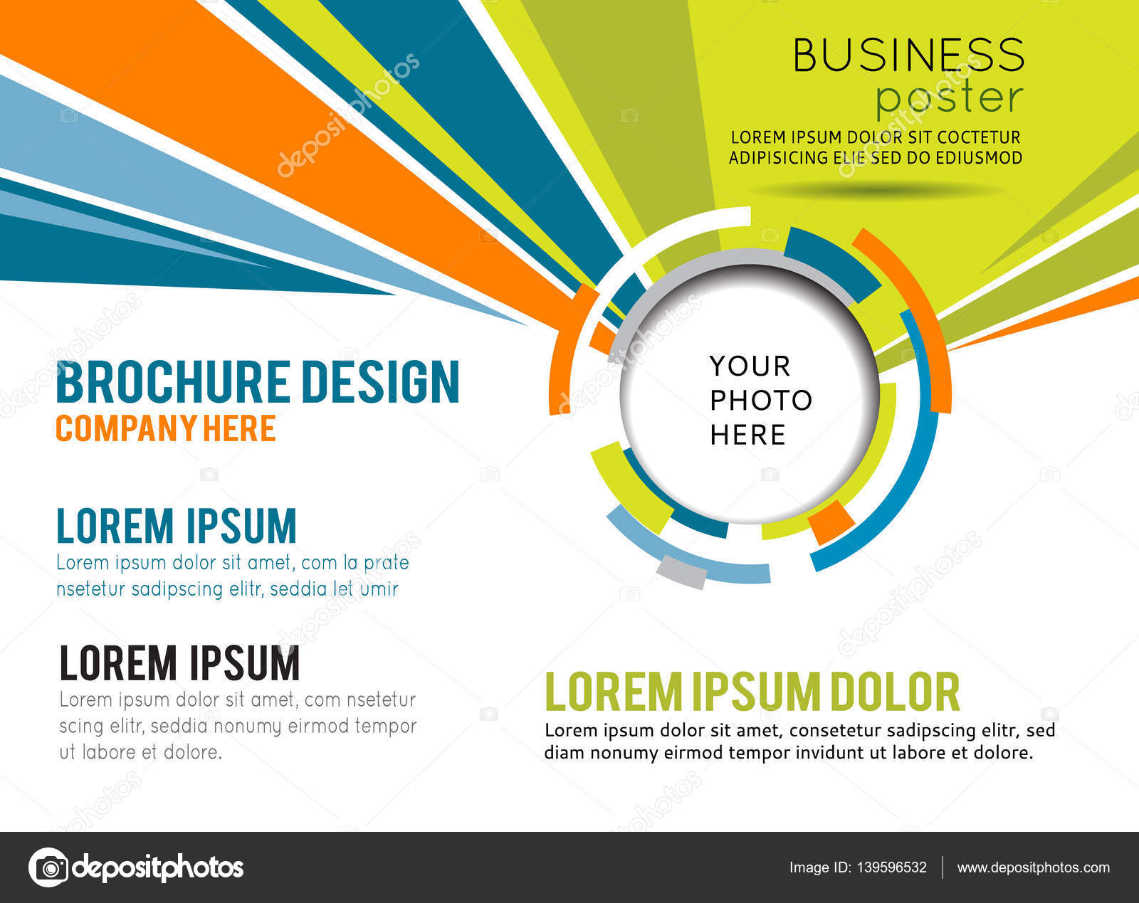 Corporate banner design template Stock Vector