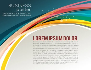 Abstract background for brochure or flyer