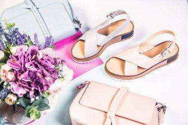 Pink mandalas, blue mandalas and handbags