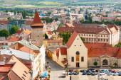 schöne malerische Stadtlandschaft der historischen mittelalterlichen Stadt Znojmo, Tschechische Republik, Europa