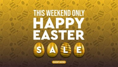 Happy Easter sale promotion design and banner stock illustration.