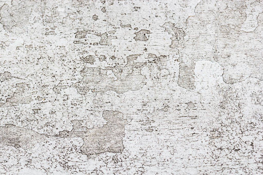 Old White Wall Texture Or Background Paint Peeling And Dust Stock Photo