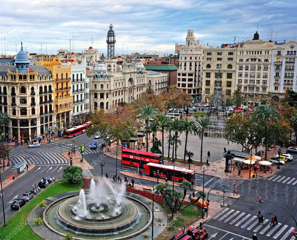 Vue de dessus valence centre ville espagne photo - Piscine valencia espagne ...