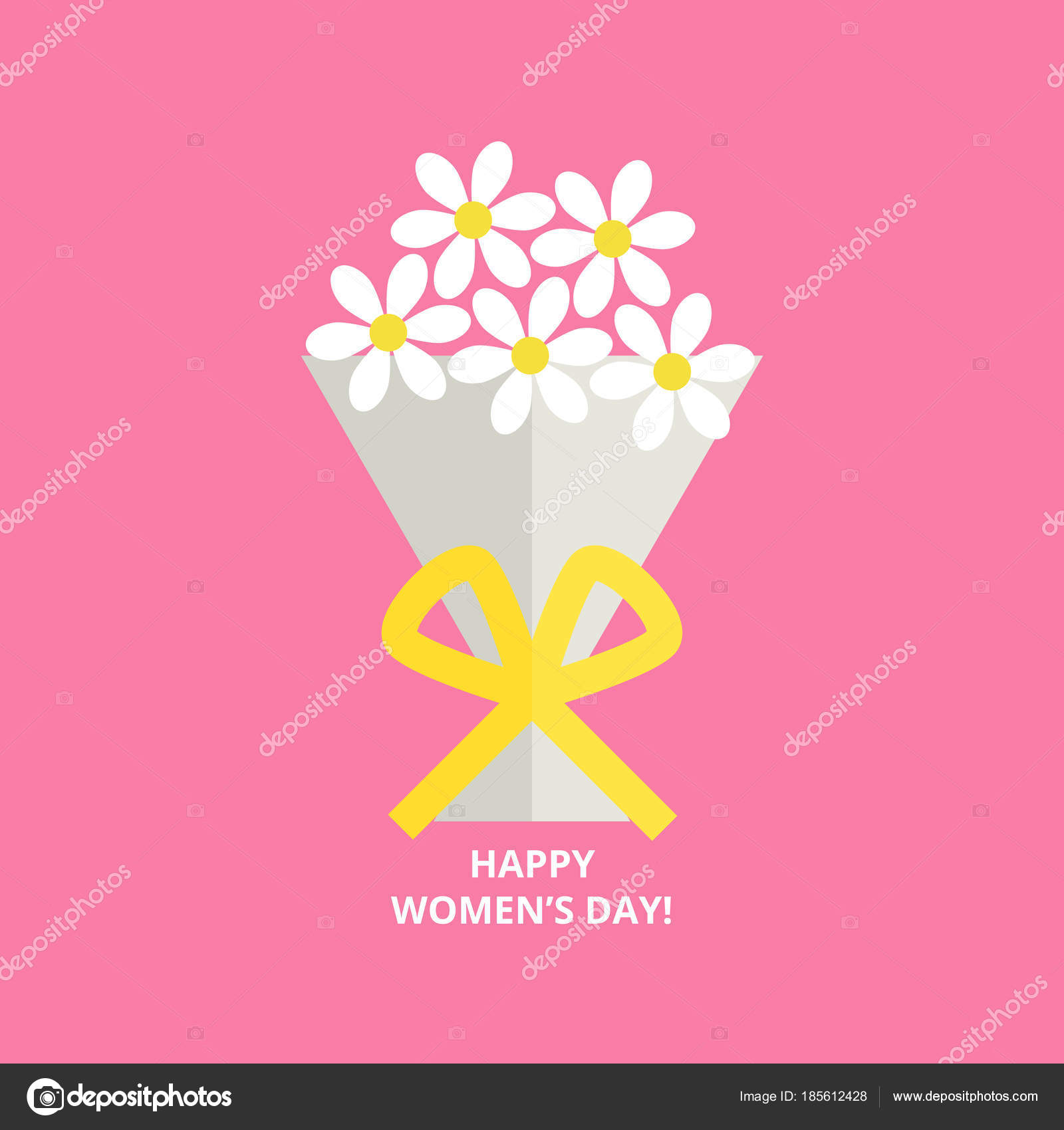 Womens Day Greeting Card Stock Vector Shlemina 185612428
