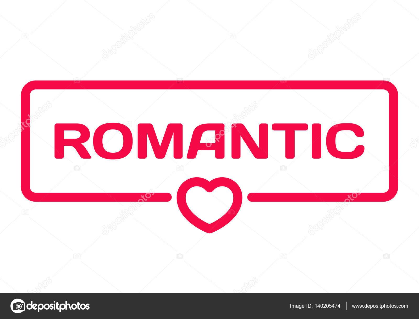 Romantyczny Odznaka Z Serca Ikona Płaskie Wektor Ilustracja Na
