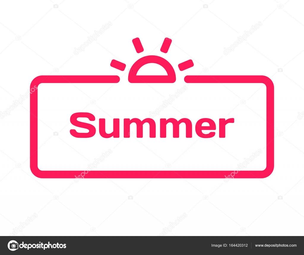 Sommer-Vorlage Sprechblase in flachen Stil auf weißem Hintergrund ...