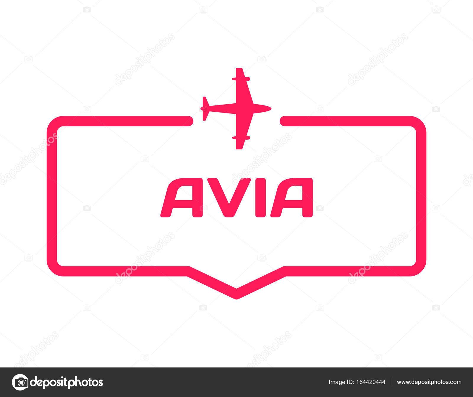 Avia Vorlage Sprechblase im flachen Stil auf weißem Hintergrund ...