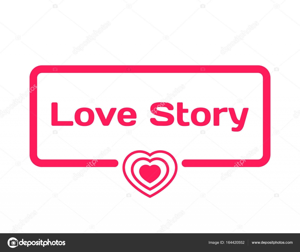 Love Story template dialog bubble in flat style on white ...
