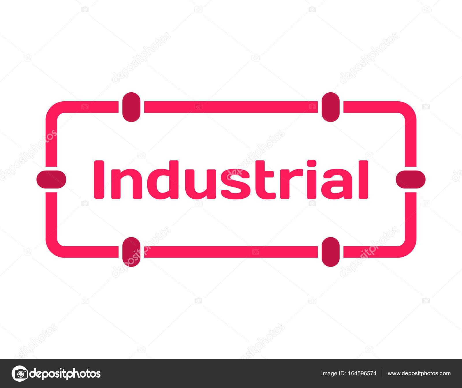 Industrielle Vorlage Sprechblase im flachen Stil auf weißem ...