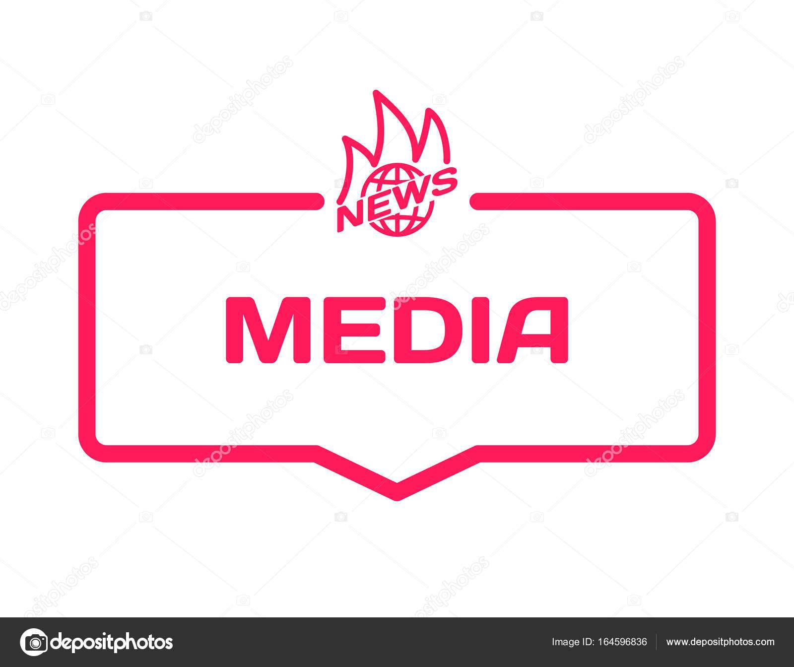 Hot News Medien Vorlage Sprechblase im flachen Stil auf weißem ...