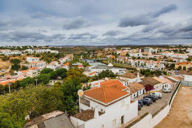 Views from Tavira Castle to the city. Portugal.