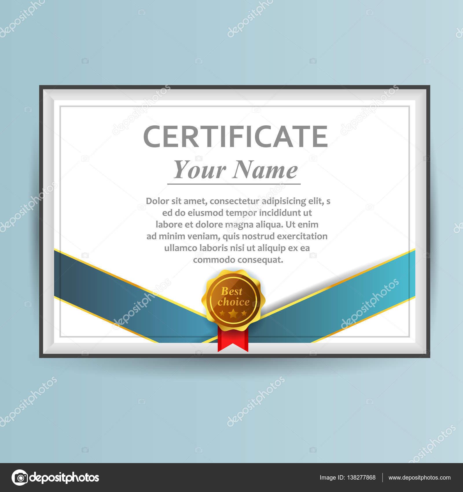 Vektor-Zertifikat-Vorlage. Design-Business-Award-Lösung ...