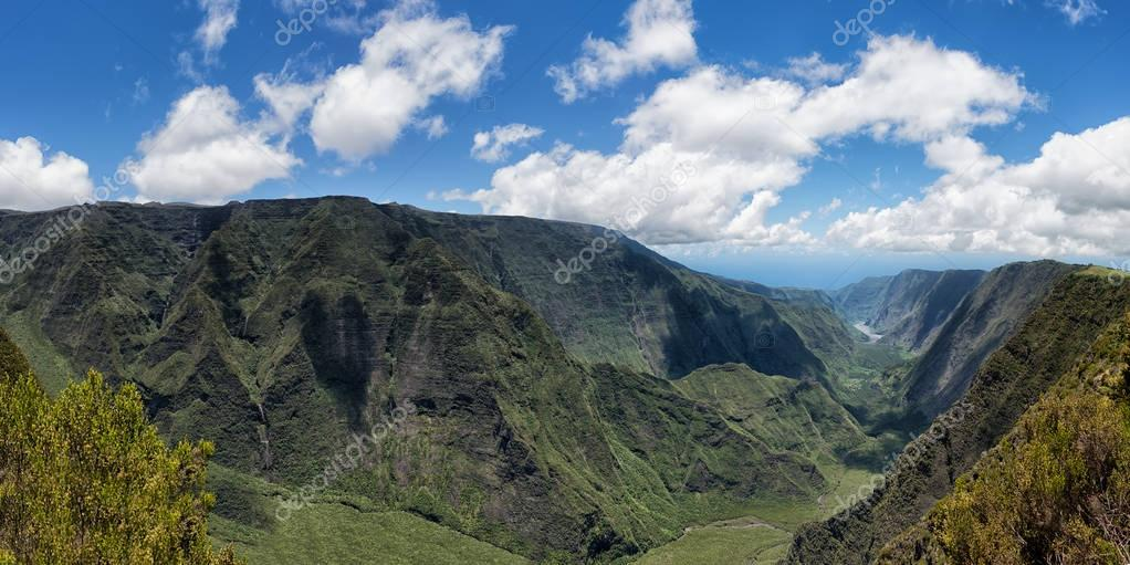 reunion island, indian ocean : mountains cirque called