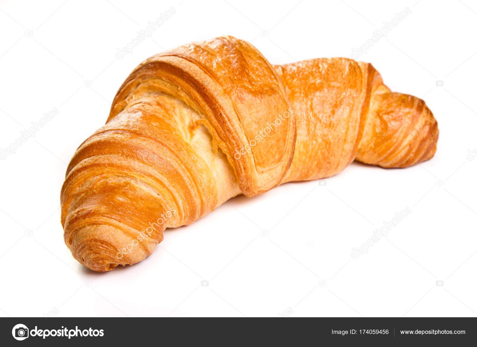 plain croissant on white background stock photo steauarosie