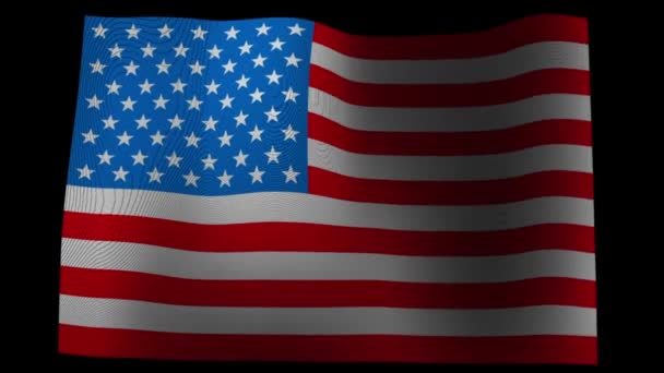 This is a video of Fluttering american flag