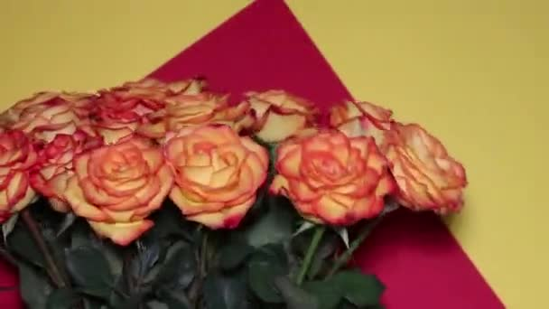 A wonderful bouquet of orange roses for your loved one. Romantic evening. Surprise for a loved one. Love and romance.