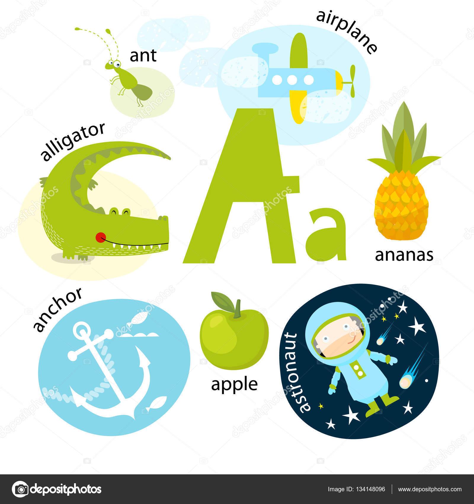 Amado Ilustração vetorial para ensinar as crianças o alfabeto Inglês com  YW22