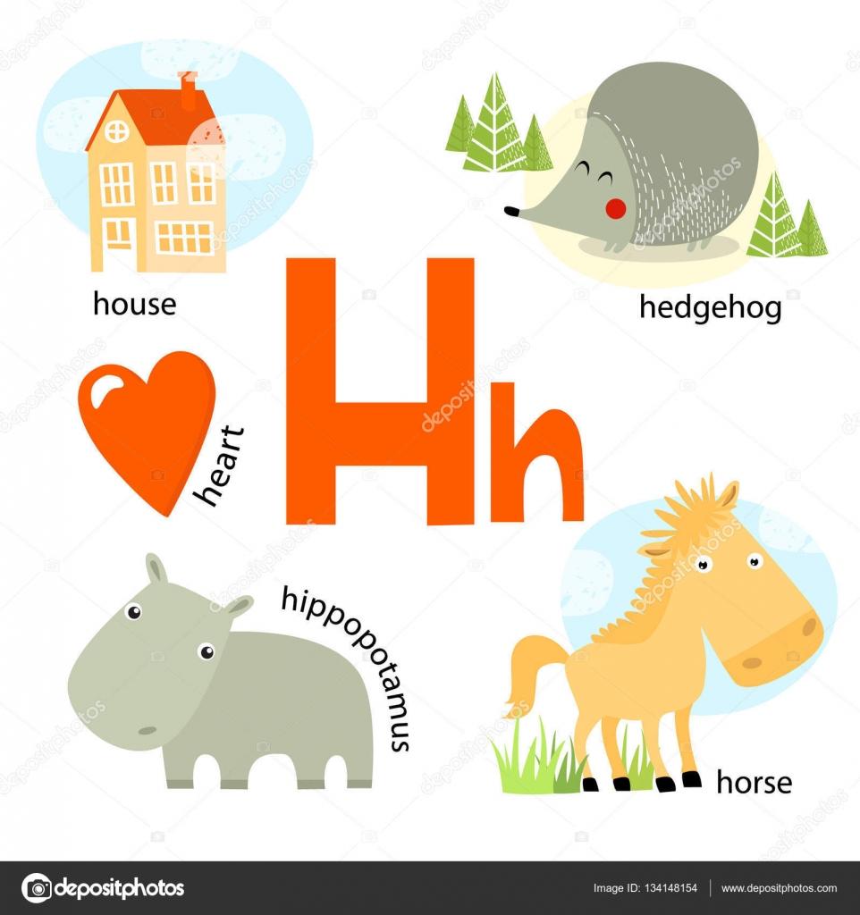 Ilustración de vector para enseñar a los niños el alfabeto ...