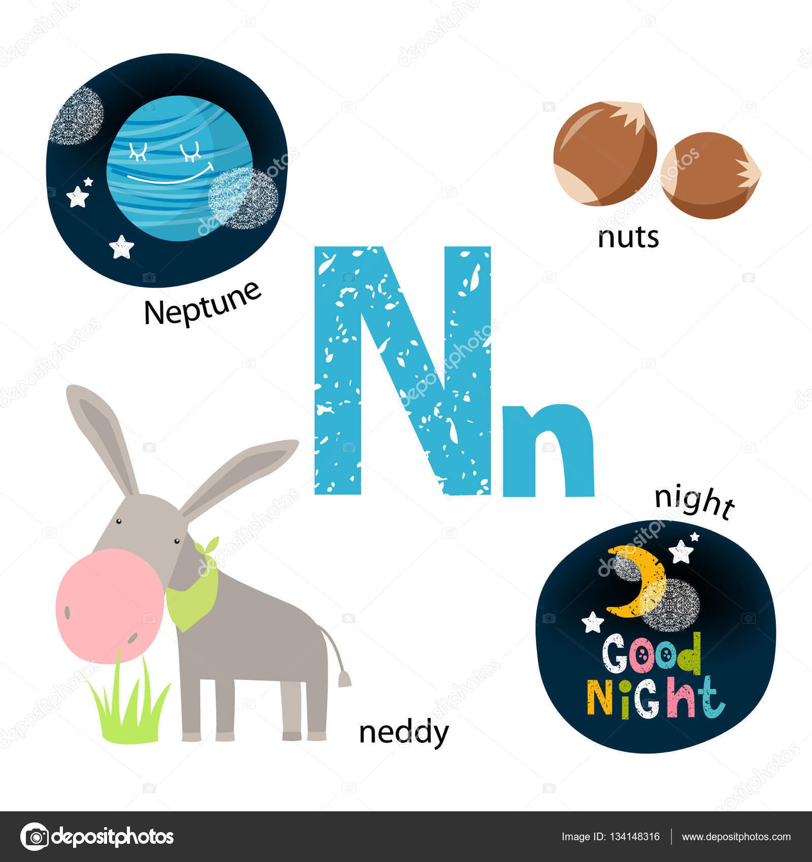 Famosos Ilustração vetorial para ensinar as crianças o alfabeto Inglês com  ZW74