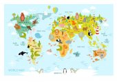 Fotografie Karte der Welt