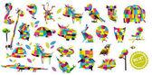 Fényképek Az állatok nagy vektor-készlet