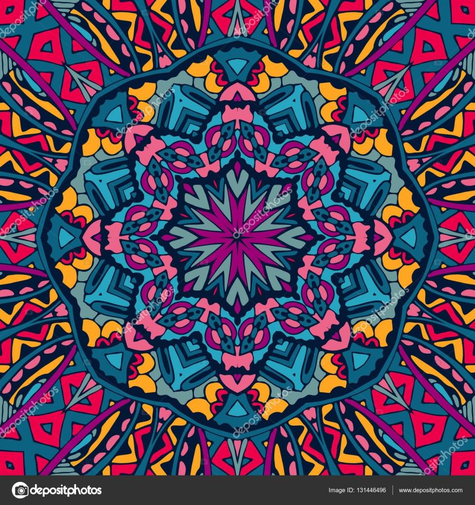Colorful Seamless Pattern Mandala Design Stock Vector C Astya
