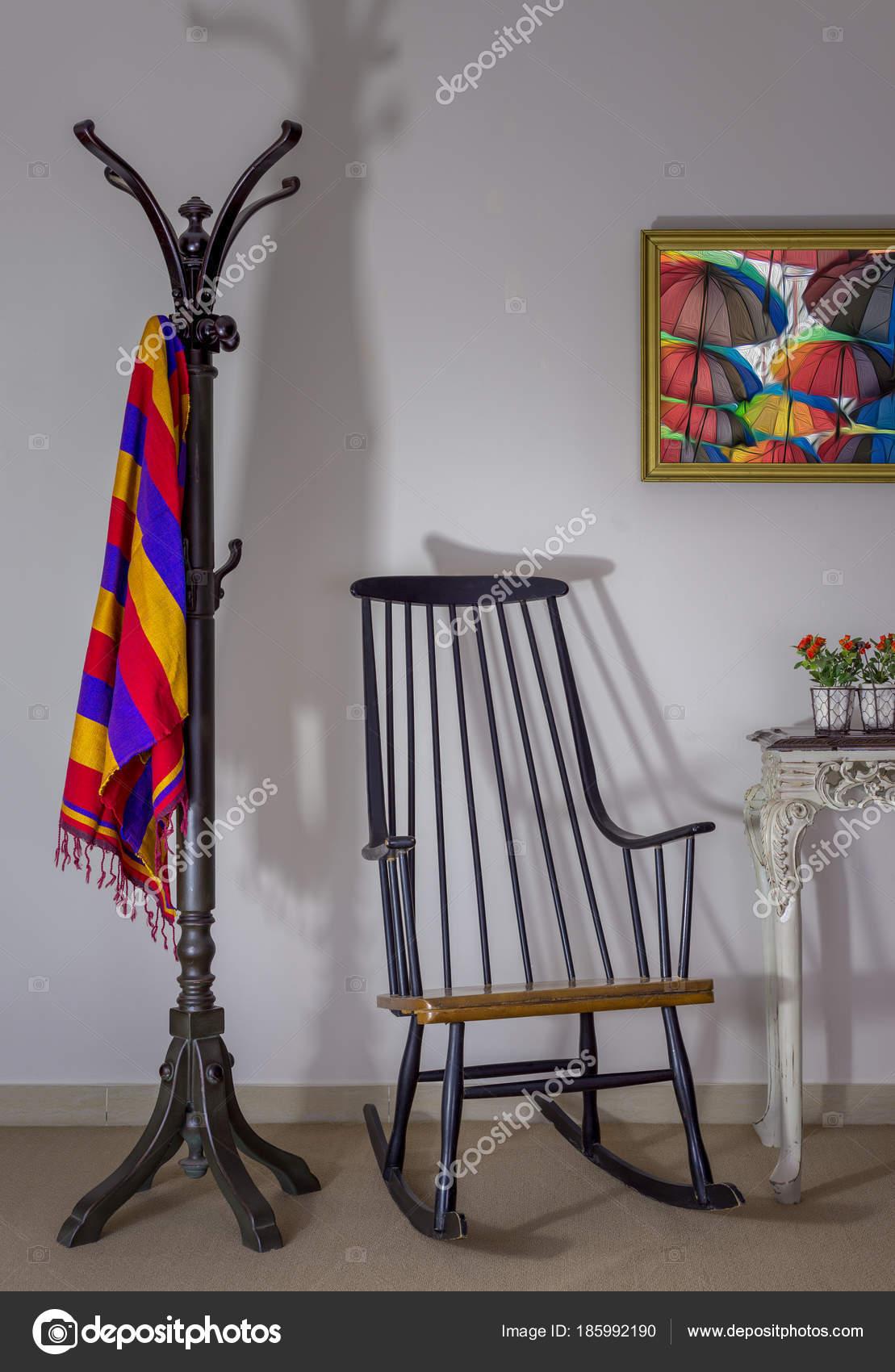 Tremendous Interior Shot Of Vintage Rocking Chair Coat Hanger And Spiritservingveterans Wood Chair Design Ideas Spiritservingveteransorg