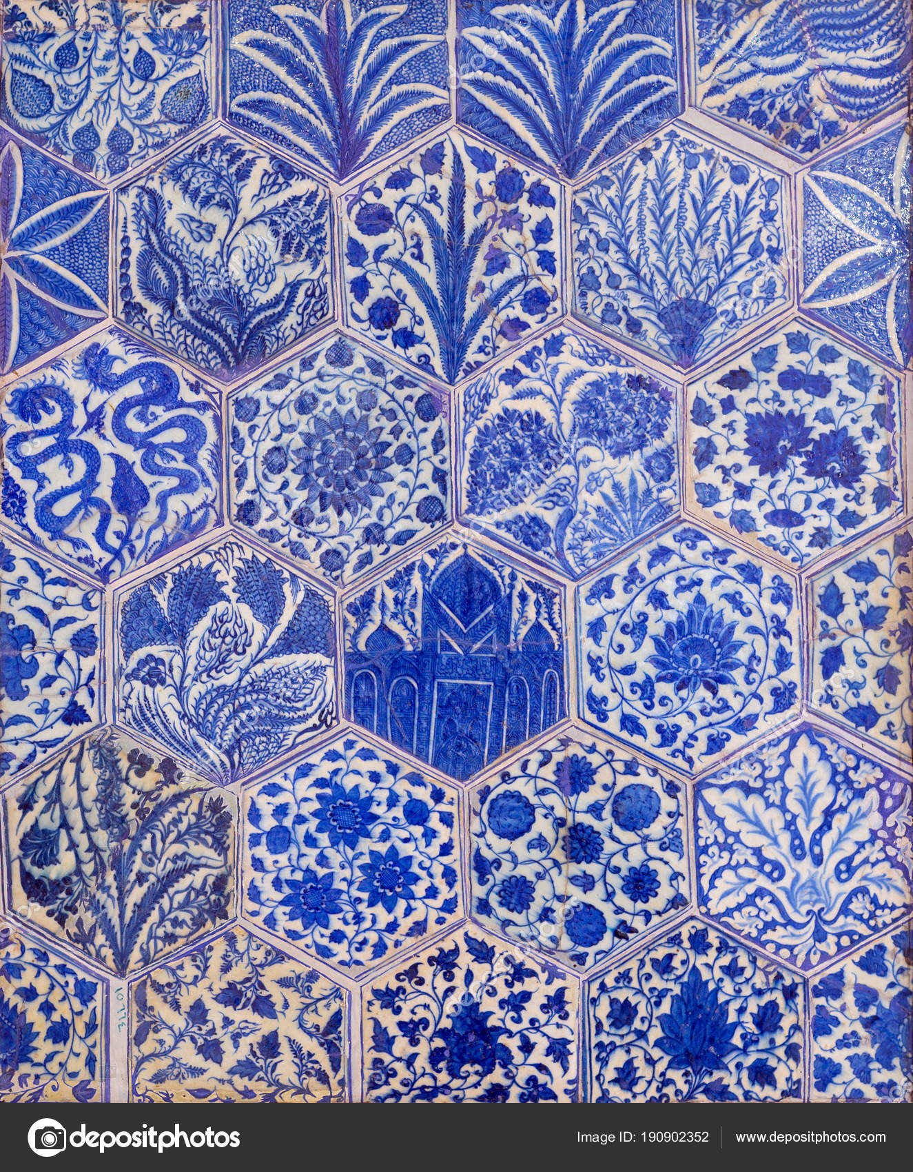 Piastrelle Di Ceramica Decorate.Stile Di Epoca Ottomana Smaltato Piastrelle Di Ceramica