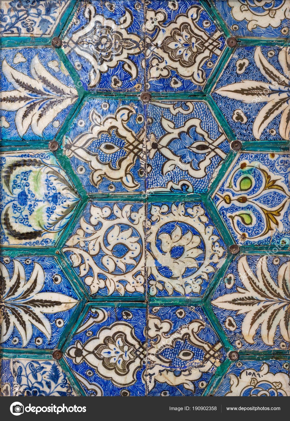Piastrelle Di Ceramica Decorate.Stile Epoca Mamelucca Smaltato Piastrelle Ceramica Decorate